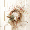 Twig Door Wreath with Berry Branches