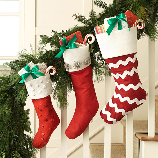 Sensational NO SEW Christmas Stockings | BHG