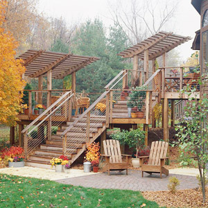 Deck Tour: Multilevel Deck with Eye-Catching Arbors
