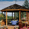 Elegant Gazebo Eating Area