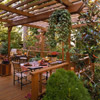 Outdoor Dining Area with Pergola