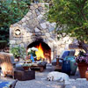 Use Local Stone for Outdoor Fireplace Designs