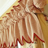 Fabric-Covered Curtain Rod