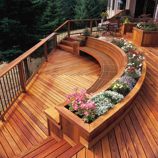 Decks with Curves