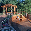 Curved Pergola and Bench