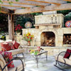 Mix Materials for a Stone Outdoor Fireplace