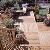 Deck with Basket-Weave Pattern