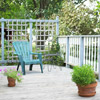Deck with Trellised Railings