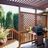 Lattice-Panel Deck Privacy Screen