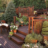 Multilevel Decking with Contemporary Railing