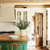 Cheery Green Kitchen Island