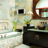 Flat-Panel TV Above Tub