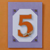 Number Birthday Card in Purple