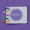 Personalized Purple Birthday Card