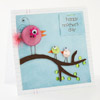 Button-Birdies Mother's Day Card