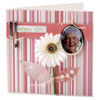 Pink Photo Birthday Card with 3-D Petals