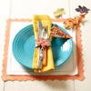 Kids' Table: Leaf Napkin Ring and Pennant Place Card