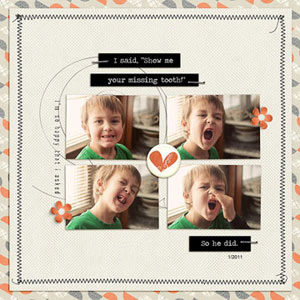 Boy Digital Scrapbooking Layouts