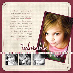Girl Digital Scrapbooking Layouts
