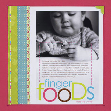 Easy Hybrid Scrapbook Pages