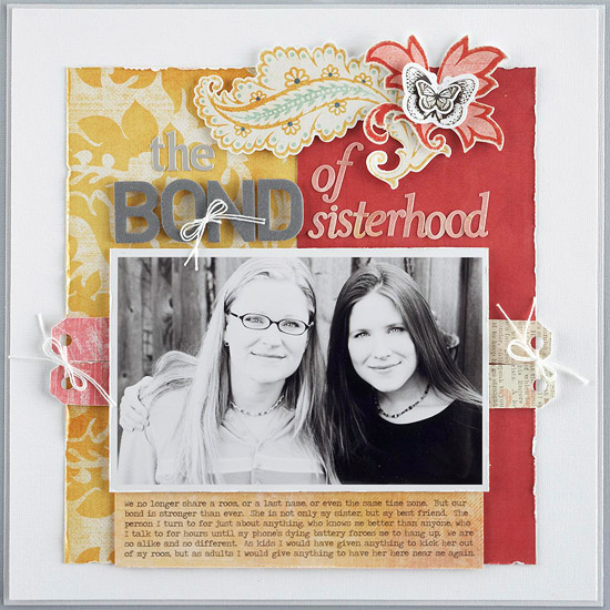 More Family Scrapbook Layout Ideas