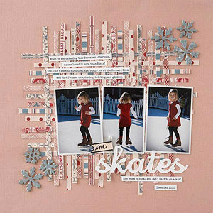 Winter Sports Scrapbook Pages