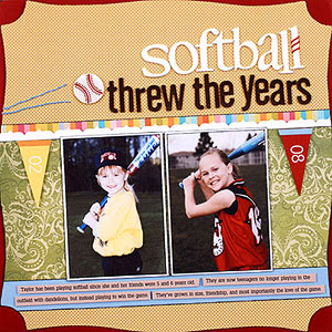 Baseball and Softball Scrapbook Pages