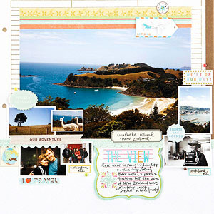 Travel Scrapbook Layout Ideas