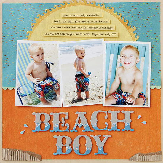 Beach Vacation Scrapbook Pages
