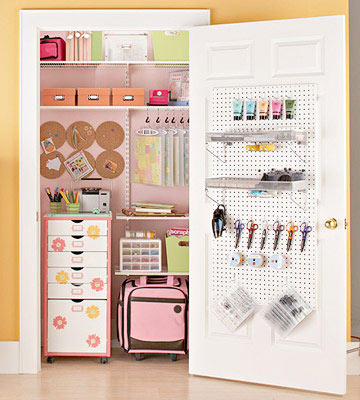 Scrapbook-Supplies Storage Closet