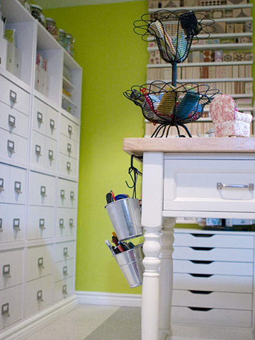 Stamp-filled Scrapbook Room