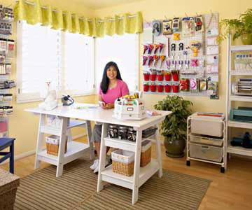 Ultra Organized Scrapbooking Room