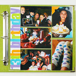 Scrapbooking with Divided Page Protectors