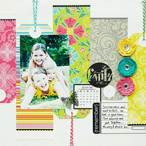 Scrapbook Pages with Baker's Twine
