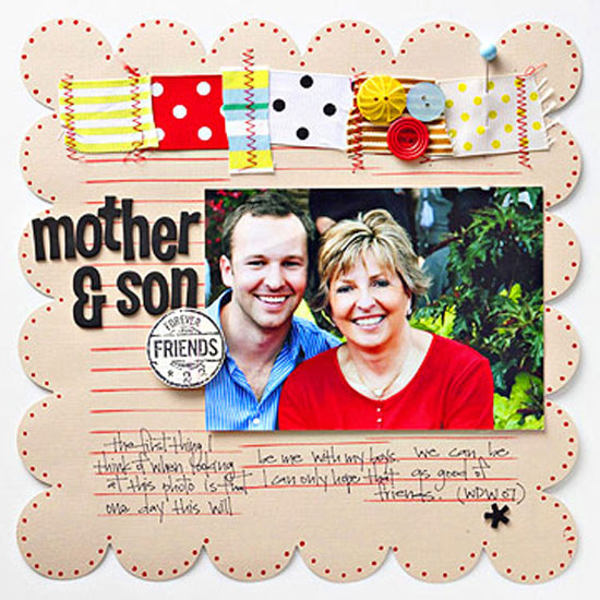 Stamped Scrapbook Page Backgrounds