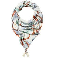 Maison Scotch Botanical Print Scarf