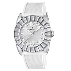 Festina White Stainless Steel Watch