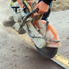 Cut with concrete saw