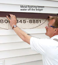 Place metal flashing