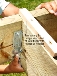 Use temporary flange
