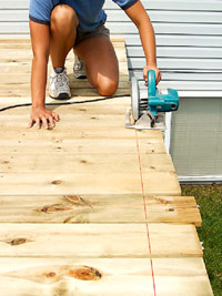 Trim decking ends