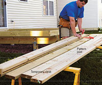 Mark joists for gang cut