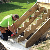Building the Stairs, Fasten toe-kick