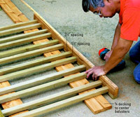 Attach balusters