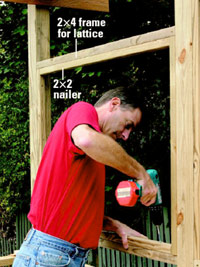 Attach 2x2 nailer
