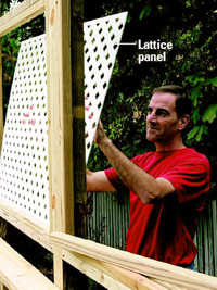 Attach lattice panel