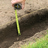 Measure trench depth