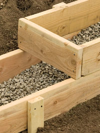 Footing forms on slope