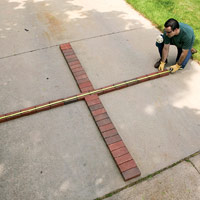 Measure pavers