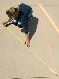 Check chalk lines for square
